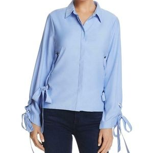 NWT Alpha and Omega Side Tie Button Down Large